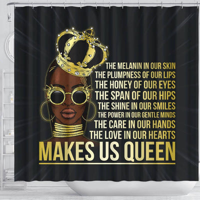 BigProStore Nice The Melanin Is Our Skin Makes Us Queen African American Print Shower Curtains Afrocentric Style Designs BPS221 Shower Curtain