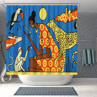 BigProStore Pretty African American Art Shower Curtains African Lady Bathroom Decor Accessories BPS0060 Small (165x180cm | 65x72in) Shower Curtain