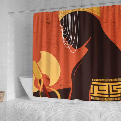 BigProStore Pretty African American Black Art Shower Curtain Afro Man Bathroom Decor Accessories BPS0075 Shower Curtain