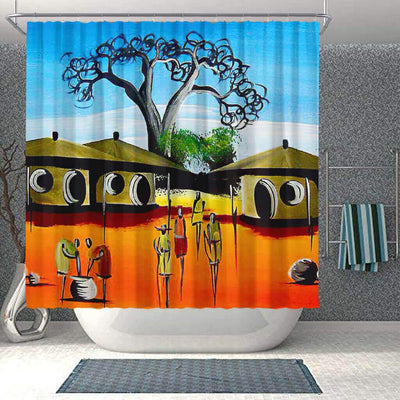 BigProStore Pretty African American Shower Curtains African Lady Bathroom Designs BPS0055 Small (165x180cm | 65x72in) Shower Curtain