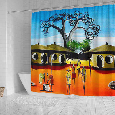 BigProStore Pretty African American Shower Curtains African Lady Bathroom Designs BPS0055 Shower Curtain