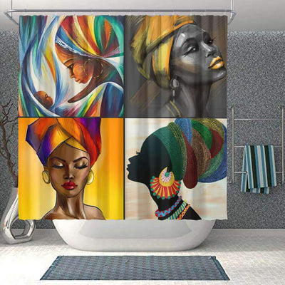 BigProStore Pretty African American Shower Curtains Melanin Afro Woman Bathroom Decor Idea BPS0043 Small (165x180cm | 65x72in) Shower Curtain