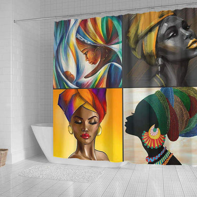 BigProStore Pretty African American Shower Curtains Melanin Afro Woman Bathroom Decor Idea BPS0043 Shower Curtain