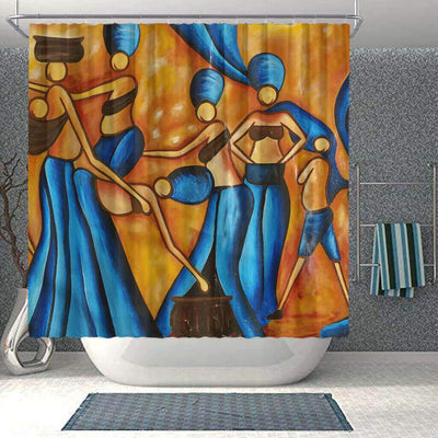 BigProStore Pretty African Inspired Shower Curtains African Woman Bathroom Decor Idea BPS0183 Small (165x180cm | 65x72in) Shower Curtain