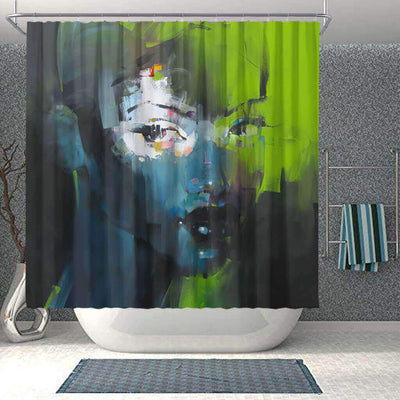 BigProStore Pretty African Shower Curtain Afro Woman Bathroom Decor BPS0197 Small (165x180cm | 65x72in) Shower Curtain