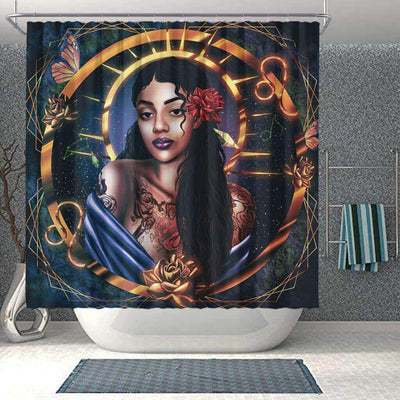 BigProStore Pretty African Shower Curtain Black Girl Bathroom Decor Idea BPS0269 Small (165x180cm | 65x72in) Shower Curtain