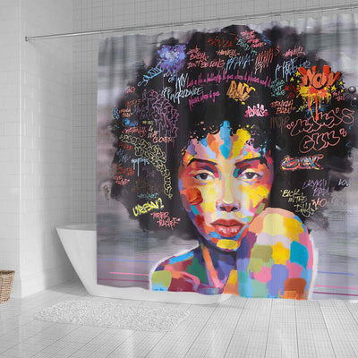 BigProStore Pretty African Style Shower Curtain African Lady Bathroom Accessories BPS0256 Shower Curtain