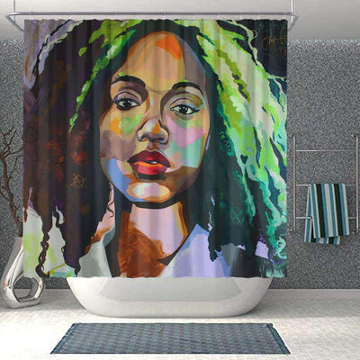BigProStore Pretty African Themed Shower Curtains Melanin Afro Woman Bathroom Decor Accessories BPS0072 Small (165x180cm | 65x72in) Shower Curtain