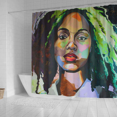 BigProStore Pretty African Themed Shower Curtains Melanin Afro Woman Bathroom Decor Accessories BPS0072 Shower Curtain