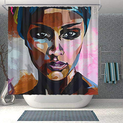 BigProStore Pretty African Themed Shower Curtains Melanin Woman Bathroom Designs BPS0119 Small (165x180cm | 65x72in) Shower Curtain
