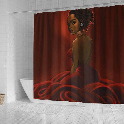 BigProStore Pretty Afro American Shower Curtains Black Queen Bathroom Decor BPS0211 Shower Curtain