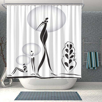 BigProStore Pretty Afrocentric Shower Curtains Afro Woman Bathroom Designs BPS0293 Small (165x180cm | 65x72in) Shower Curtain