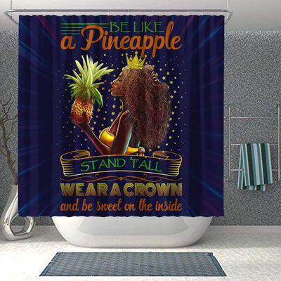 BigProStore Pretty Be Like A Pineapple Stand Tall Wear A Crown And Be Sweet In The Inside African American Print Shower Curtains African Style Designs BPS054 Shower Curtain