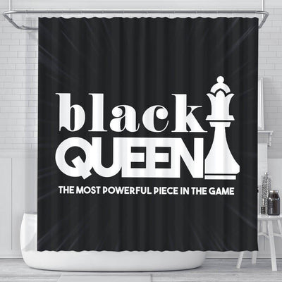 BigProStore Pretty Black Queen The Most Powerful Piece In The Game Afro American Shower Curtains Afrocentric Bathroom Decor BPS095 Small (165x180cm | 65x72in) Shower Curtain
