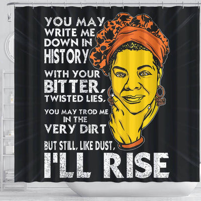 BigProStore Pretty But Still Like Dust I'll Rise African Style Shower Curtains African Bathroom Decor BPS106 Shower Curtain
