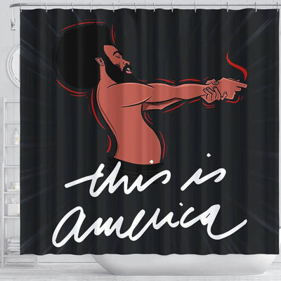 BigProStore Pretty Childish Gambino This Is America African American Shower Curtain Afrocentric Style Designs BPS107 Shower Curtain
