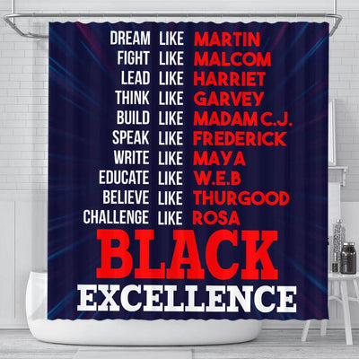 BigProStore Pretty Dream Like Martin Fight Like Malcom Lead Like Harriet Black Excellence African American Themed Shower Curtains African Bathroom Accessories BPS112 Small (165x180cm | 65x72in) Shower Curtain