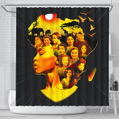 BigProStore Pretty Famous Pro Black Women Afro Girls Shower Curtains African American Afro Bathroom Accessories BPS115 Small (165x180cm | 65x72in) Shower Curtain