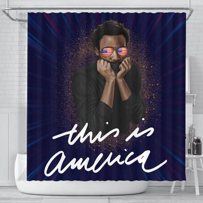 BigProStore Pretty Funny This Is America Childish Gambino African Style Shower Curtains African Style Designs BPS122 Small (165x180cm | 65x72in) Shower Curtain