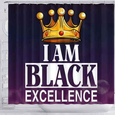BigProStore Pretty I Am Black Excellence African American Inspired Shower Curtains African Bathroom Decor BPS130 Shower Curtain