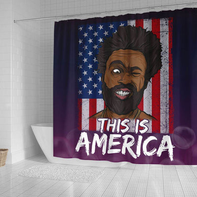 BigProStore Pretty This Is America Childish Gambino Funny African American Shower Curtain African Bathroom Decor BPS226 Small (165x180cm | 65x72in) Shower Curtain
