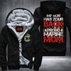 BigProStore Proud Marine Mom Fleece Hoodie My Son Has Your Back USMC Fleece Hoodie BPS360 Black / S Fleece Hoodie