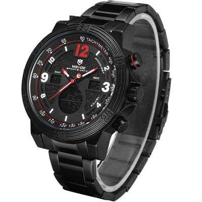 BigProStore Sport Military Men Firefighter Watch Thin Red Line Firemen Wristwatch Black Red Dial Wristwatch