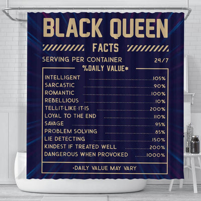 BigProStore Trendy Black Queen Facts Funny African American Art Shower Curtains Afrocentric Style Designs BPS092 Small (165x180cm | 65x72in) Shower Curtain