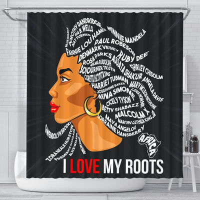 BigProStore Trendy I Love My Roots Shower Curtains African American Afro Bathroom Accessories BPS139 Small (165x180cm | 65x72in) Shower Curtain