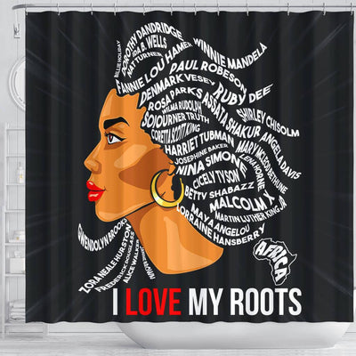 BigProStore Trendy I Love My Roots Shower Curtains African American Afro Bathroom Accessories BPS139 Shower Curtain