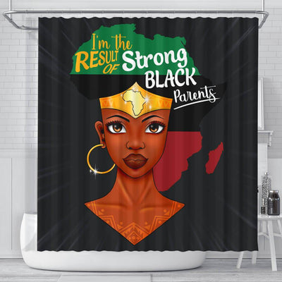 BigProStore Trendy I'm The Result Of Strong Black Parents Shower Curtains African American Afro Bathroom Decor BPS146 Small (165x180cm | 65x72in) Shower Curtain