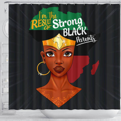 BigProStore Trendy I'm The Result Of Strong Black Parents Shower Curtains African American Afro Bathroom Decor BPS146 Shower Curtain