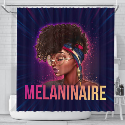 BigProStore Trendy Melaninaire Afro Girl Afro American Shower Curtains African Bathroom Accessories BPS170 Small (165x180cm | 65x72in) Shower Curtain