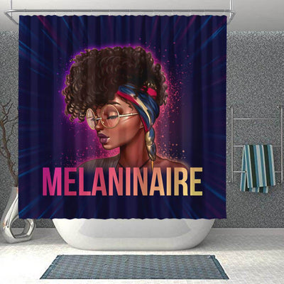 BigProStore Trendy Melaninaire Afro Girl Afro American Shower Curtains African Bathroom Accessories BPS170 Shower Curtain