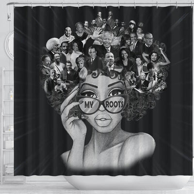 BigProStore Trendy My Roots Beautiful Afro Lady Black History Shower Curtains Afrocentric Style Designs BPS174 Shower Curtain