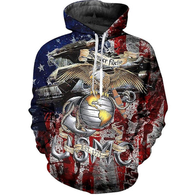 USMC Marine Corp Punisher Military Quality Pullover Hoodie Men/'s Size Small-5X