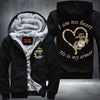 BigProStore USMC Wife Fleece Hoodie I am his heart He Is My Armor Marine Corps Wife Mom Fleece Hoodie BPS687 Black / S Fleece Hoodie