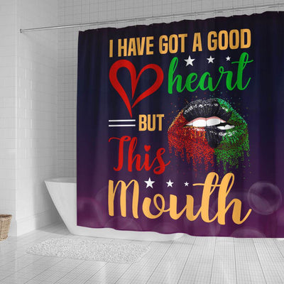 BigProStore Unique Afro Girl I Have Got A Good Heart But This Mouth African American Themed Shower Curtains Afro Bathroom Decor BPS021 Small (165x180cm | 65x72in) Shower Curtain