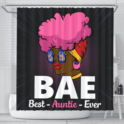 BigProStore Unique BAE Best Auntie Ever Black Woman African Style Shower Curtains African Bathroom Decor BPS048 Small (165x180cm | 65x72in) Shower Curtain