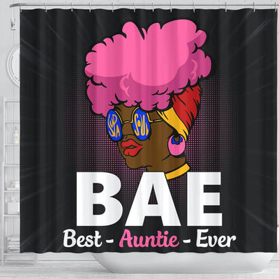 BigProStore Unique BAE Best Auntie Ever Black Woman African Style Shower Curtains African Bathroom Decor BPS048 Shower Curtain