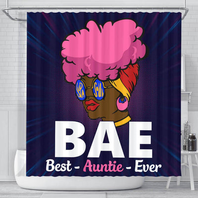 BigProStore Unique BAE Best Auntie Ever Black Woman Afrocentric Shower Curtains Afrocentric Style Designs BPS048 Small (165x180cm | 65x72in) Shower Curtain