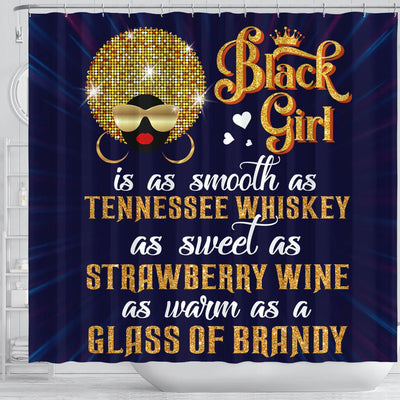 BigProStore Unique Black Girl Is As Smooth As Tennessee Whiskey Black African American Shower Curtains African Style Designs BPS076 Small (165x180cm | 65x72in) Shower Curtain