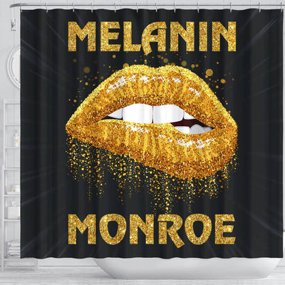 BigProStore Unique Melanin Monroe African American Themed Shower Curtains African Style Designs BPS160 Shower Curtain