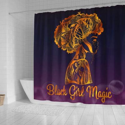 BigProStore Unique Melanin Woman Black Girl Magic African American Bathroom Shower Curtains Afrocentric Style Designs BPS167 Small (165x180cm | 65x72in) Shower Curtain