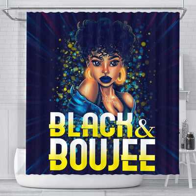 BigProStore Unique Pretty Afro Girl Black And Boujee African American Art Shower Curtains African Bathroom Decor BPS192 Small (165x180cm | 65x72in) Shower Curtain