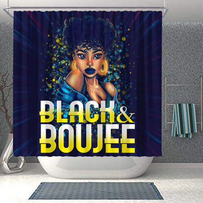 BigProStore Unique Pretty Afro Girl Black And Boujee African American Art Shower Curtains African Bathroom Decor BPS192 Shower Curtain