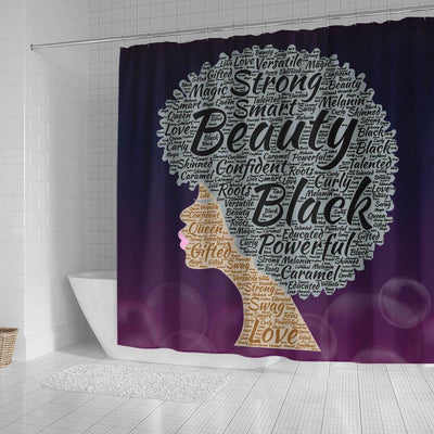 BigProStore Unique Strong Smart Beauty Black Powerful Afro Woman African American Bathroom Shower Curtains Afrocentric Bathroom Accessories BPS213 Small (165x180cm | 65x72in) Shower Curtain