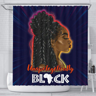 BigProStore Unique Unapologetically Black Afro Woman African American Bathroom Shower Curtains Afrocentric Bathroom Decor BPS230 Small (165x180cm | 65x72in) Shower Curtain