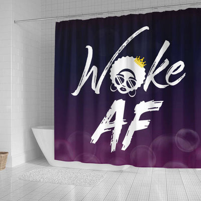 BigProStore Unique Woke Af Natural Girl Afro American Shower Curtains African Bathroom Decor BPS238 Small (165x180cm | 65x72in) Shower Curtain