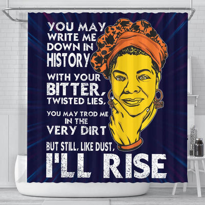 BigProStore Unique You May Write Me Down In History But Still Like Dust I'll Rise Black History Shower Curtains Afro Bathroom Accessories BPS244 Small (165x180cm | 65x72in) Shower Curtain